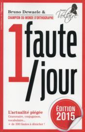 1 faute par jour (édition 2015) - Couverture - Format classique