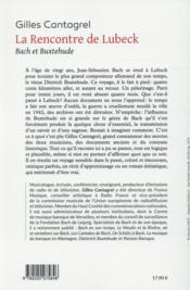 La rencontre de Lübeck - 4ème de couverture - Format classique