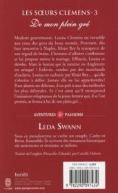 Les soeurs Clémens t.3 ; de mon plein gré - 4ème de couverture - Format classique