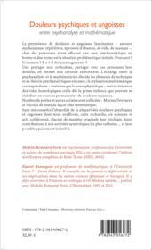 Douleurs psychiques et angoisses entre psychanalyse et mathematique - Couverture - Format classique