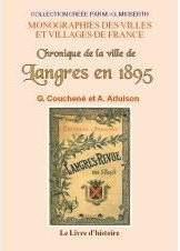Langres (Chronique De La Ville De) En 1895 - Couverture - Format classique