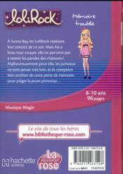 LoliRock T.4 ; mémoire trouble - 4ème de couverture - Format classique