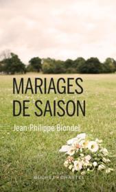 Mariages de saison - Couverture - Format classique