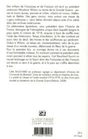 Cher Monsieur le Président ; quand les Français écrivaient au président Wilson (1918-1919) - 4ème de couverture - Format classique