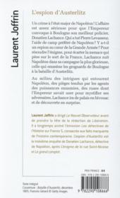 L'espion d'Austerlitz - 4ème de couverture - Format classique