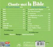 Chante-moi la bible - 4ème de couverture - Format classique