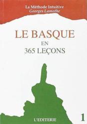 Le basque en 365 lecons 1 - Couverture - Format classique