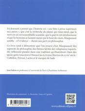 Philosophie De Maupassant - 4ème de couverture - Format classique