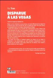 Disparue à Las Vegas - 4ème de couverture - Format classique
