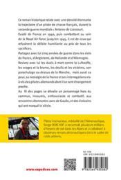 Free french ; journal d'Antoine de Liancourt, pilote de chasse français, 1940-1945 - 4ème de couverture - Format classique