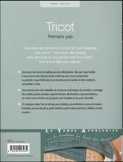 Tricot premiers pas - 4ème de couverture - Format classique