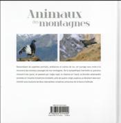 Animaux des montagnes - 4ème de couverture - Format classique