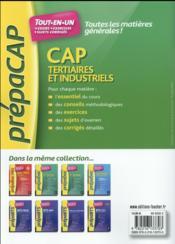Toutes les matières générales ; CAP tertiaires et industriels nouveaux programmes - 4ème de couverture - Format classique