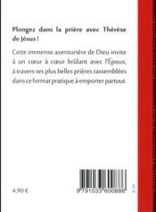 Prieres En Poche ; Sainte Thérèse D'Avila - 4ème de couverture - Format classique