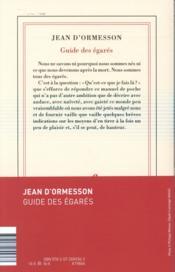 Guide des égarés - 4ème de couverture - Format classique