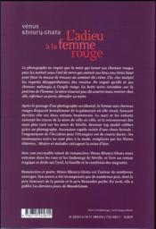 L'adieu à la femme rouge - 4ème de couverture - Format classique
