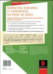 Marketing sensoriel du point de vente ; créer et gérer l'ambiance des lieux commerciaux (5e édition) - 4ème de couverture - Format classique
