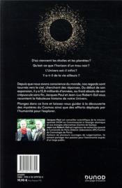 La fabuleuse histoire de l'univers ; du big bang au big freeze - 4ème de couverture - Format classique