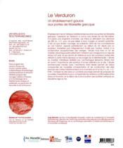 Le Verduron, un établissement gaulois aux portes de Marseille grecque - 4ème de couverture - Format classique