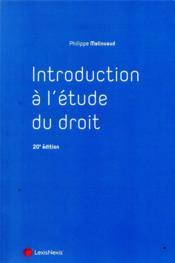 Introduction à l'étude du droit (20e édition) - Couverture - Format classique