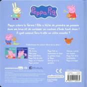 Peppa Pig ; Peppa à la ferme - 4ème de couverture - Format classique