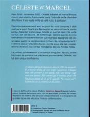 Céleste et Marcel, un amour de Proust - 4ème de couverture - Format classique