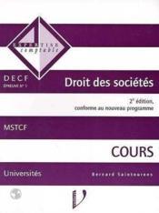 D.e.c.f n.1 droit des societes cours 2eme edition - Couverture - Format classique