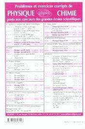 Problemes Corriges De Physique Mines/Ponts Tome 7 1998-2000 - 4ème de couverture - Format classique