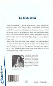 Le Fil Du Desir - 4ème de couverture - Format classique