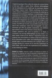 Capture totale matrix mythologie de la cyberculture - 4ème de couverture - Format classique