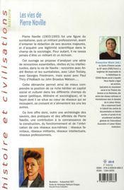 Les vies de pierre naville - 4ème de couverture - Format classique