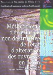 Methodologie d'evaluation non destructive de l'etat d'alteration ouvrages beton - Intérieur - Format classique