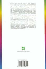 Langage Des Signes (Le) - 4ème de couverture - Format classique
