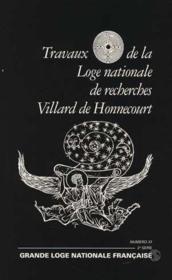 Travaux de la loge nationale de recherches Villard de Honnecourt n°37 - Couverture - Format classique