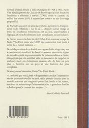 Journal caucasien (1928-1931) suivi de : carnet moscovite - 4ème de couverture - Format classique