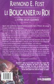 Krondor - l'entre-deux-guerres T.2 ; le boucanier du roi - 4ème de couverture - Format classique