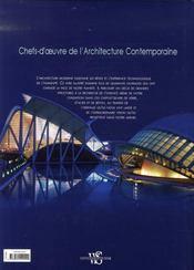 Architecture contemporaine ; chefs-d'oeuvre de génie - 4ème de couverture - Format classique
