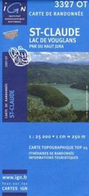 St-Claude ; lac de Vouglans ; PNR du Haut-Jura - Couverture - Format classique