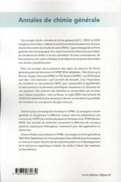 Annales de chimie générale QROC & QCM ; UE1 ; PAES - 4ème de couverture - Format classique