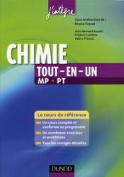 Chimie ; MP, PT ; tout-en-un - Couverture - Format classique