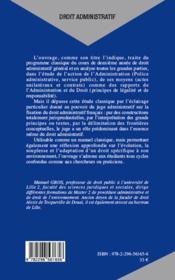 Droit administratif ; l'angle jurisprudentiel (3e édition) - 4ème de couverture - Format classique
