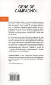 Gens de Campagnol - 4ème de couverture - Format classique