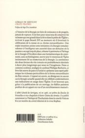 Orate fratres ; la liturgie romaine selon la forme extraordinaire - 4ème de couverture - Format classique