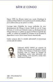 Bâtir le Congo - 4ème de couverture - Format classique