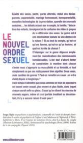 Le nouvel ordre sexuel ; pourquoi devient-on fille ou garçon ? - 4ème de couverture - Format classique