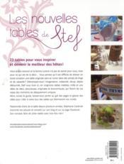 Les nouvelles tables de stef - 4ème de couverture - Format classique