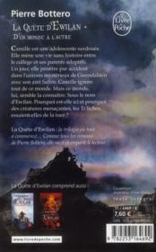 La quête d'Ewilan T.1 ; d'un monde à l'autre - 4ème de couverture - Format classique