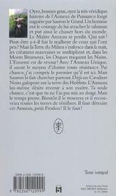 Le Seigneur Des Anneaux T.1 ; La Communaute De L'Anneau - 4ème de couverture - Format classique