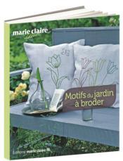 Motifs du jardin à broder - Couverture - Format classique