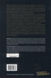 Mares et étangs ; écologie, gestion, aménagement et valorisation - 4ème de couverture - Format classique